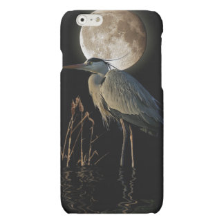 Great Blue Heron & Moon Wildlife Art Matte iPhone 6 Case