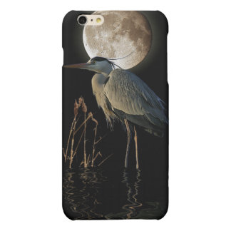 Great Blue Heron & Moon Wildlife Art Matte iPhone 6 Plus Case