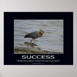 Great Blue Heron Motivational Poster