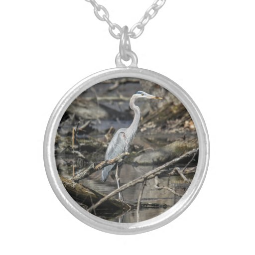 Great Blue Heron Custom Necklace