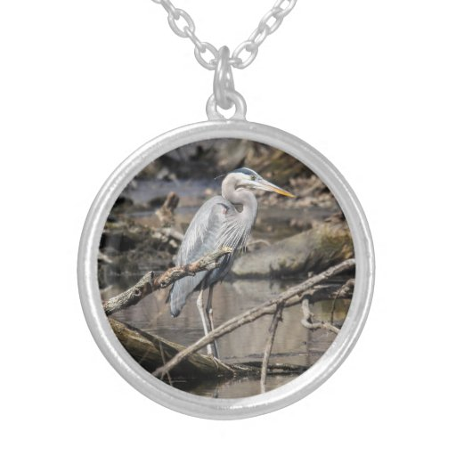 Great Blue Heron Personalized Necklace