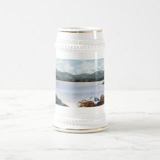 Great Blue Heron Nesting Beer Stein