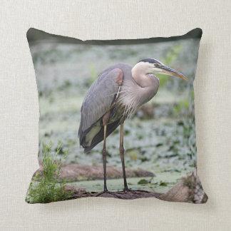 Blue Heron Throw Pillows : Great Blue Heron Pillows - Decorative & Throw Pillows Zazzle