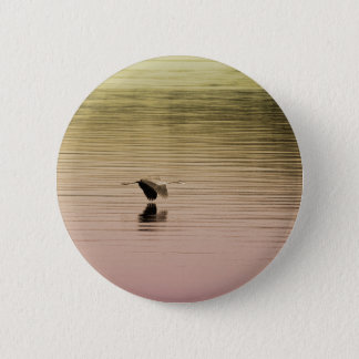 Great Blue Heron on Gradient Background Pinback Button