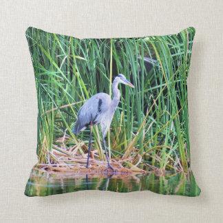 Blue Heron Throw Pillows : Great Blue Heron Pillows, Great Blue Heron Throw Pillows