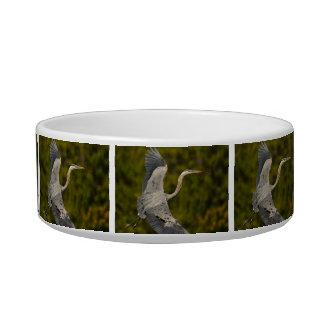 great blue heron cat food bowls