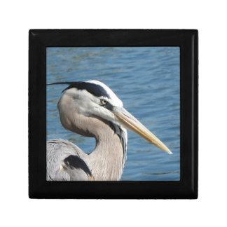 Great Blue Heron Portrait Trinket Box