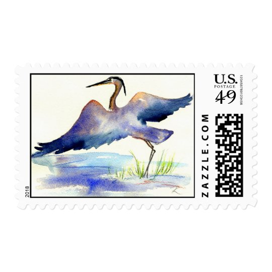 Great Blue Heron Postage Stamp