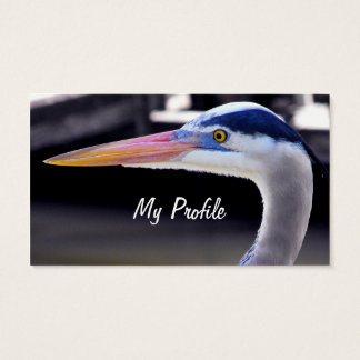 Great Blue Heron Profile Business Card