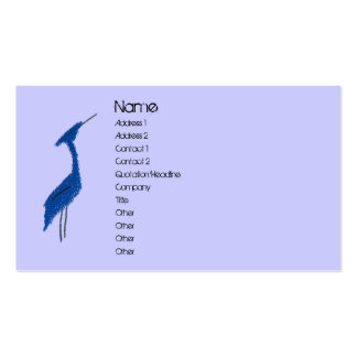 GREAT BLUE HERON profile card Business Cards