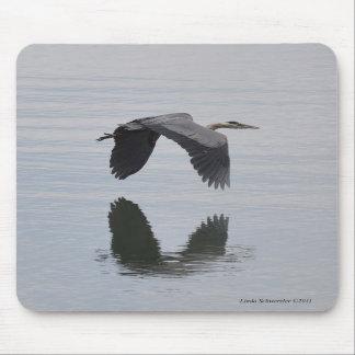 Great Blue Heron Reflection Mousepad