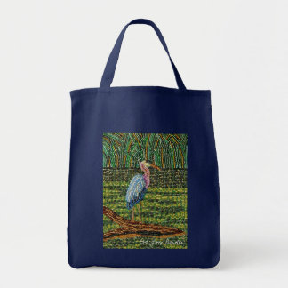 Great Blue Heron Reusable Grocery Tote Bag