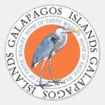 Great Blue Heron Round Stickers