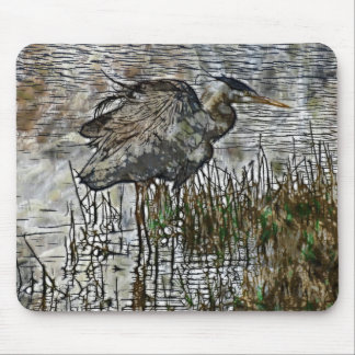 GREAT BLUE HERON Series Mouse Pad
