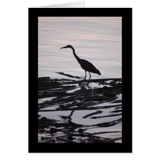 Great Blue Heron Silhouette Card