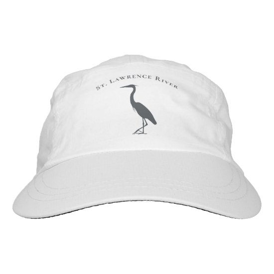 Great Blue Heron silhouette with custom text Hat