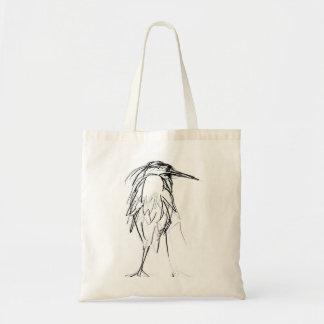 Great Blue Heron Sketch Tote