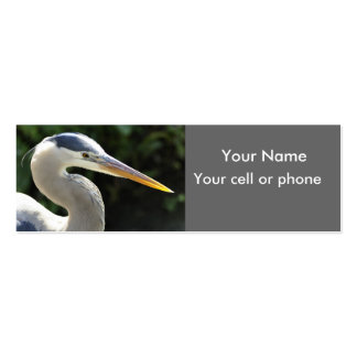 Great Blue Heron skinny card Business Card