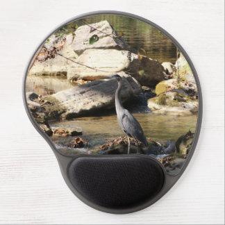Great Blue Heron standing in creek photo Gel Mousepads