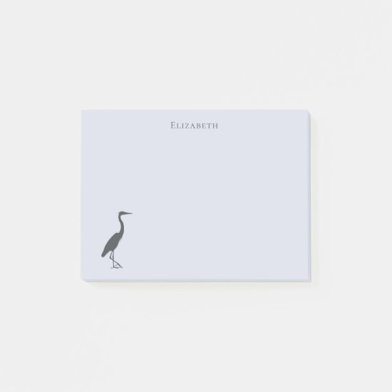 Great Blue Heron standing silhouette Post-it Notes