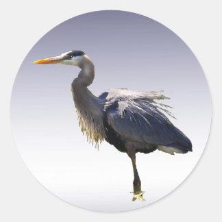 Great Blue Heron Round Sticker