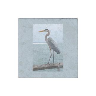 Great Blue Heron Stone Magnet