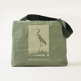Great Blue Heron Sturdy Canvas Totebag Tote