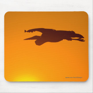 Great Blue Heron Sunset Mouse Pad