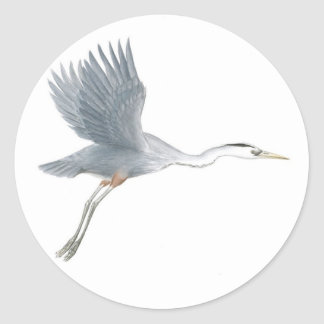 Great Blue Heron Taking Off Sticker