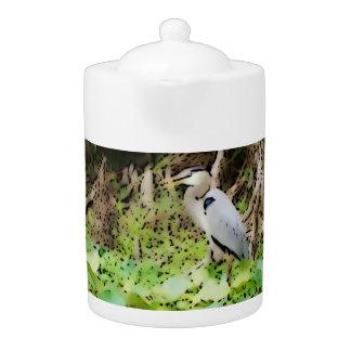 Great Blue Heron Teapot