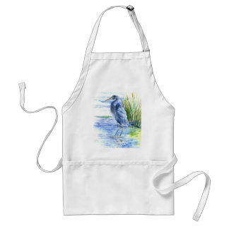 Great Blue Heron Wades in the Marsh Adult Apron