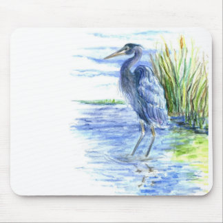 Great Blue Heron Wades in the Marsh Mouse Pad