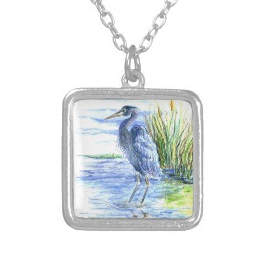 Great Blue Heron Wades in the Marsh Pendants