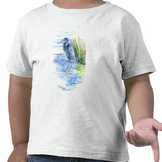 Great Blue Heron Wades in the Marsh T-shirt