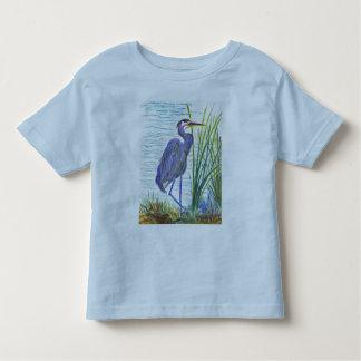 Great Blue Heron - Watercolor Pencil Toddler T-shirt