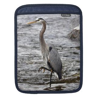 Great Blue Heron Wildlife Birdlover Photo iPad Sleeve