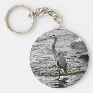 Great Blue Heron Wildlife Birdlover Photo Keychain