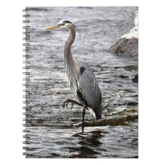 Great Blue Heron Wildlife Birdlover Photo Spiral Notebook