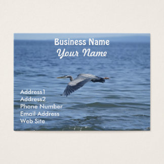 Great Blue Heron Wildlife Business Card