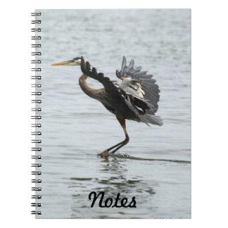 Great Blue Heron Wildlife Photography Notebook