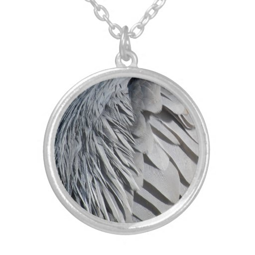Great Blue Heron Wing Necklace