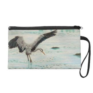 Great Blue Heron Wristlet Purse