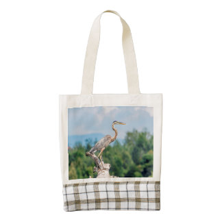 Great Blue Heron Zazzle HEART Tote Bag