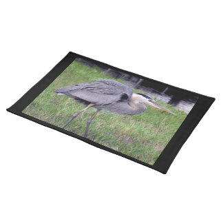 Great Blue Heron's Territory Cloth Placemat