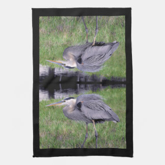 Great Blue Heron's Territory Hand Towel