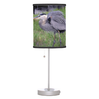 Great Blue Heron's Territory Table Lamp