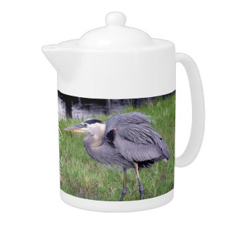 Great Blue Heron's Territory Teapot