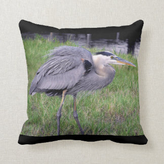 Great Blue Heron's Territory Throw Pillow