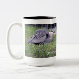 Great Blue Heron's Territory Two-Tone Coffee Mug
