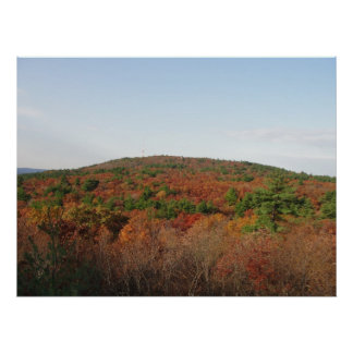 Great Blue Hill, Autumn Poster